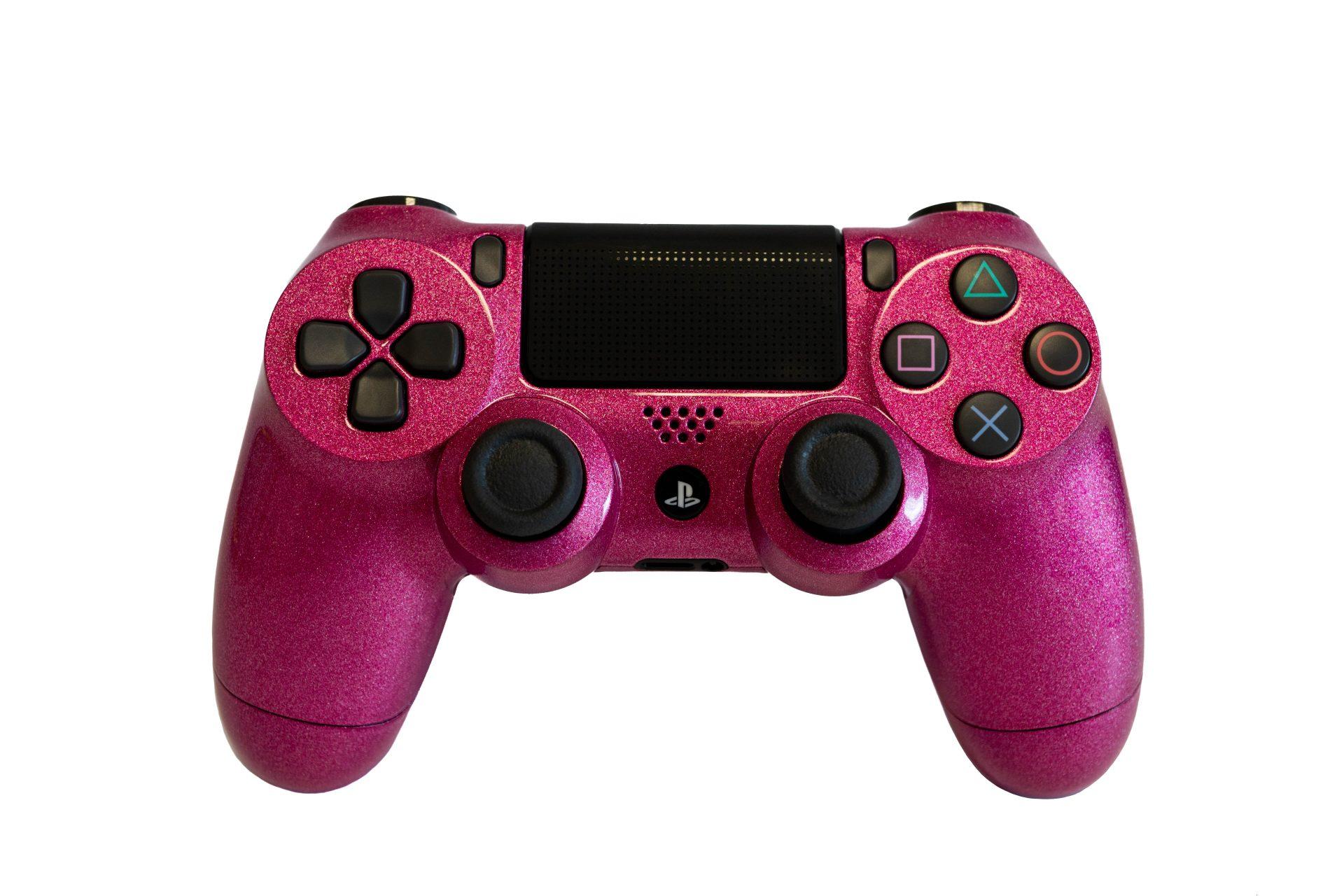 PS4 Controller   Dualshock 4 V2   Custom   Pink Glitter ▷www.yourcolor.de