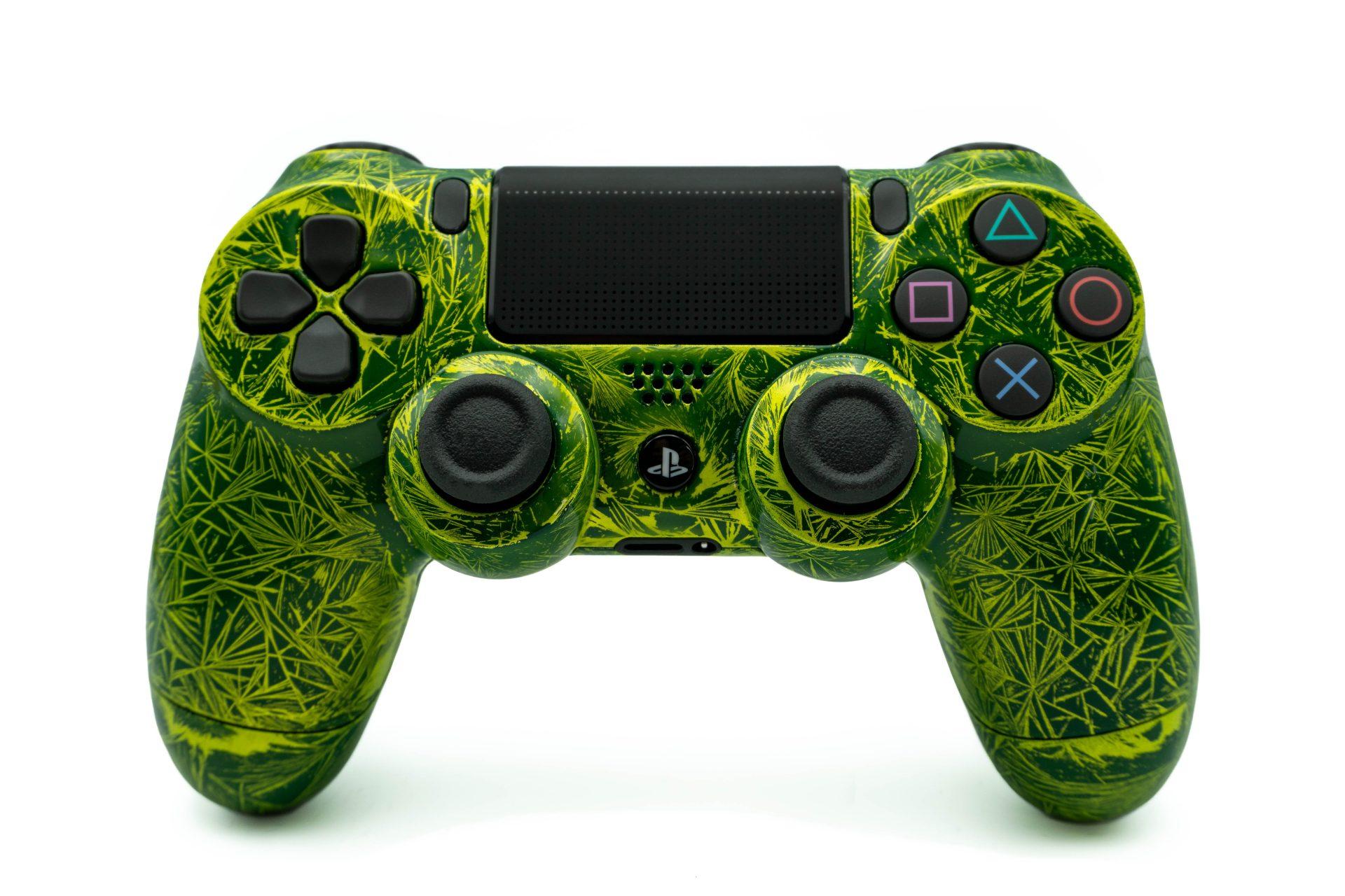 PS4 Controller | Dualshock 4 V2 | Custom | Grün Gelb ▷www.yourcolor.de